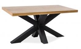 Konferenčný stolík CROSS B drevo masív / kov