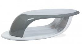 Konferenčný stolík CANON sivá / biela