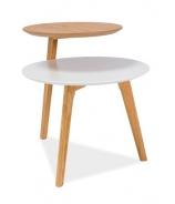 Konferenčný stolík NEO biela / dub