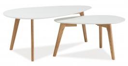 Konferenčné stolky - zostava MILAN L2 biela