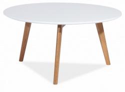 Konferenčný stolík MILAN L1 biela / dub