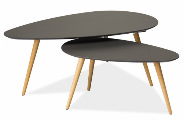 Konferenčné stolky- komplet NOLAN B šedý