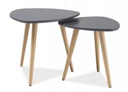 Konferenčné stolíky - komplet NOLAN A sivá / buk