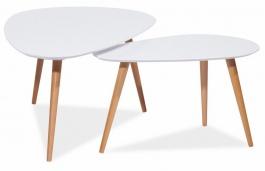 Konferenčné stolky- komplet NOLAN B biely