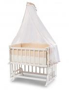 Prístavná kolíska k posteli Vivian 50x90cm - biela