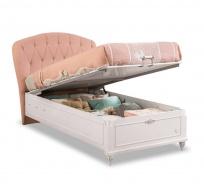 Detská posteľ s úložným priestorom Carmen 100x200cm - biela/ružová