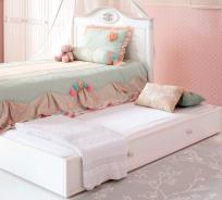 Prístelka k posteli Carmen 90x190cm - biela