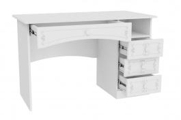 Rustikálny písací stôl Juliet - biela