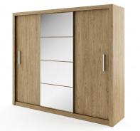 Šatná skriňa IDEA 01 dub shetland zrkadlo 250 cm