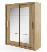 Šatná skriňa IDEA 02 shetland zrkadlo 180 cm