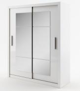Šatná skriňa IDEA 02 biela zrkadlo 180 cm