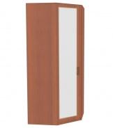 Rohová skriňa do spálne Sofia so zrkadlovými dverami - orech
