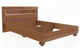 Manželská posteľ 140x200cm Sofia s klasickým čelom bez roštu - orech