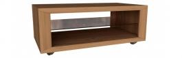 Konferenčný stolík Morgana - dub zlatý/svetlo sivý