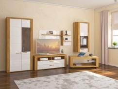 Obývacia izba Morgana - dub zlatý/svetlo sivý