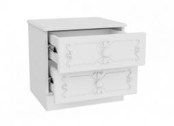 Rustikálny nočný stolík Juliet - biela