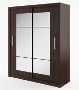 Šatná skriňa IDEA 02 wenge zrkadlo 180 cm