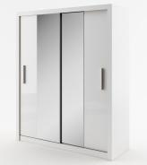 Šatná skriňa IDEA 03 biela zrkadlo 180 cm