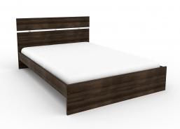 Lacná posteľ Space 140x200 cm - orech rímsky