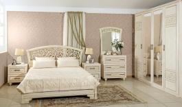 Zostava nábytku do spálne Sofia I s posteľou 160x200cm - béžová/lento