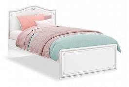Študentská posteľ Betty 120x200cm - biela/šedá