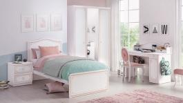 Dievčenská izba Betty - biela/ružová