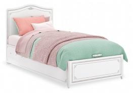 Detská posteľ s úložným priestorom Betty 100x200cm - biela/šedá