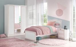 Malá detská izba Betty - biela/ružová