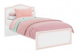 Študentská posteľ Betty 120x200cm - biela/ružová