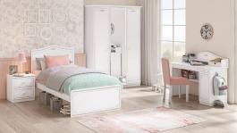 Dievčenská izba Betty - biela/šedá