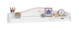 Malý nadstavec nad písací stôl Betty - biela/ružová