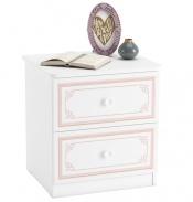 Nočný stolík Betty - biela/ružová
