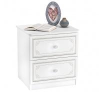 Nočný stolík Betty - biela/šedá