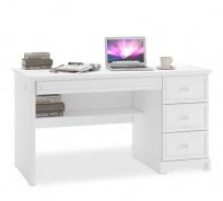 Zásuvkový písací stôl Ballerina - biela