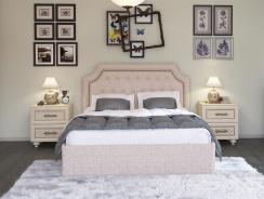Čalúnená posteľ s úložným priestorom Ronny 160x200cm - béžová