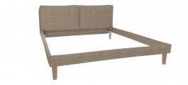 Čalúnená posteľ s roštom Marila 160x200cm - hnedá