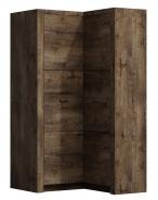 Rohová šatníková skriňa INDIANAPOLIS I-14 jaseň tmavý