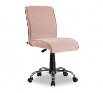 Čalúnená stolička na kolieskach Ballerina - lososová