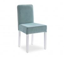 Moderná čalúnená stolička Ballerina - biela/mint
