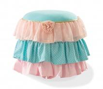 Pufik Ballerina - lososová/mint/ružová