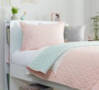 Obojstranný prehoz na posteľ 90-100cm Ballerina - lososová/mint