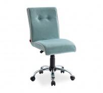 Čalúnená stolička na kolieskach Ballerina - mint