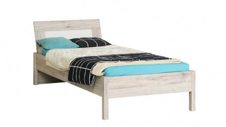 Detská posteľ Beach 90x200cm - dub pieskový / biela