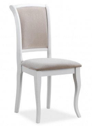Jedálenská čalúnená stolička MN-SC biela / béžová