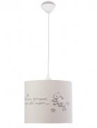 Detské stropné osvetlenie Chloe - biela/šedá
