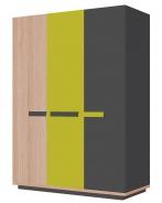 Šatníková skriňa 3d WOW W-5 zelená