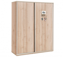 Veľká šatníková skriňa s posuvnými dverami Veronica - dub svetlý/biela