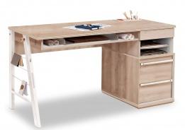 Veľký študentský písací stôl Veronica - dub svetlý/biela