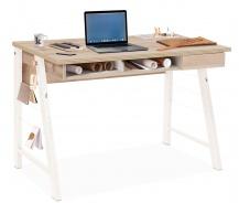 Malý študentský písací stôl Veronica - dub svetlý/biela