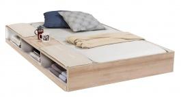 Zásuvka 90x190cm s úložným priestorom k posteli Veronica - dub svetlý/biela